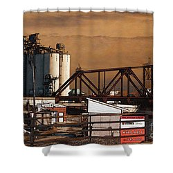 Available Shower Curtain by David Blank