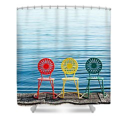 Available Seats Shower Curtain by Todd Klassy