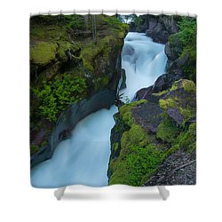 Shower Curtain featuring the photograph Avalanche Gorge 6 by Gary Lengyel