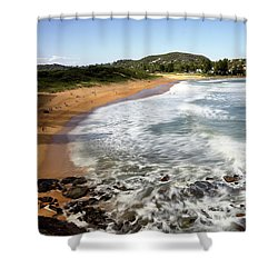 Shower Curtain featuring the photograph Avalon Beach by Nicholas Blackwell