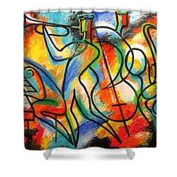 Avant-garde Jazz Shower Curtain