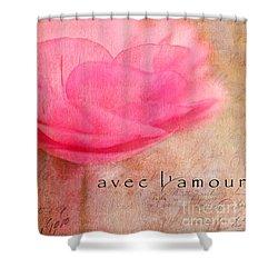 Avec L'amour Shower Curtain