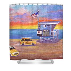 Shower Curtain featuring the painting Avenue C by Jamie Frier
