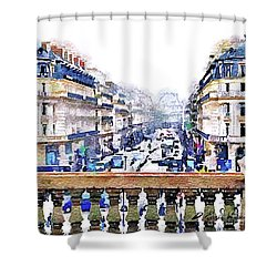 Avenue De L'opera Moderne  Shower Curtain