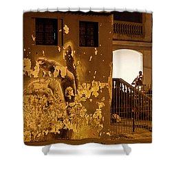 Shower Curtain featuring the photograph Avenue De Los Presidentes Havana Cuba by Charles Harden