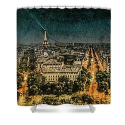 Paris, France - Avenue Kleber Shower Curtain