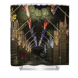 Avenue Of Flags Shower Curtain by Juli Scalzi