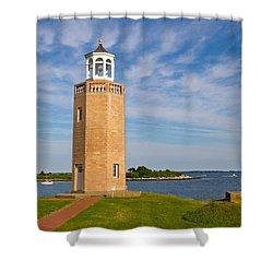 Avery Point Lighthouse Shower Curtain