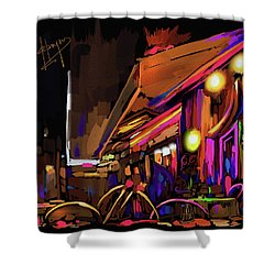 Shower Curtain featuring the painting Avignon, France by DC Langer