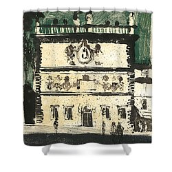 Shower Curtain featuring the painting Avignon Historic Building by Martin Stankewitz