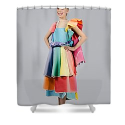 Aviva In Patio Umbrella Dress Shower Curtain