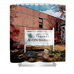 Avon High School Blg Shower Curtain