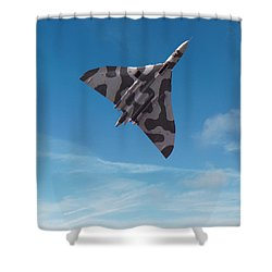 Shower Curtain featuring the digital art Avro Vulcan -1 by Paul Gulliver