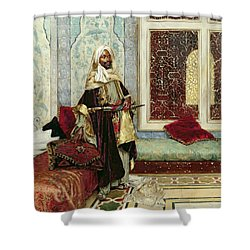 Awaiting An Audience Shower Curtain by Rudolphe Ernst