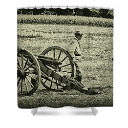 Awaiting Orders Shower Curtain by Bill Cannon