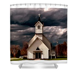 Awaiting The Storm Shower Curtain