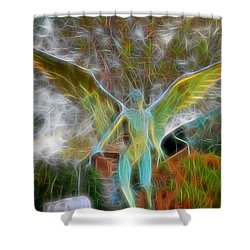 Awaken Shower Curtain by Gina Savage