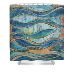 Shower Curtain featuring the painting Awaken by Jocelyn Friis