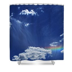 Awaken Shower Curtain by Linda Sannuti