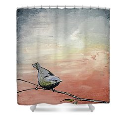Awakening Shower Curtain by Carolyn Doe