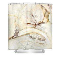 Award Winning Abstract Nude Shower Curtain by Kerryn Madsen-Pietsch