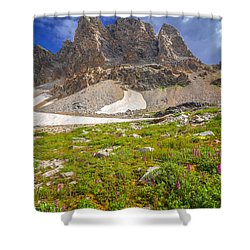 Awe Inspring Grand Teton Landscape Shower Curtain by Serge Skiba