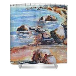 Awenda Shore Shower Curtain by Heather Kertzer