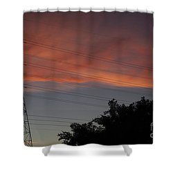 Awesome Sky Shower Curtain by Anne Rodkin