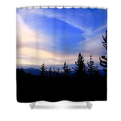 Awesome Sky Shower Curtain by Susan Crossman Buscho