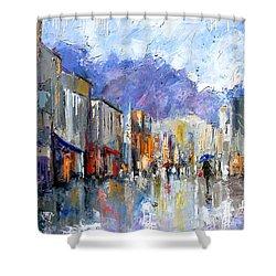 Awnings Shower Curtain by Debra Hurd