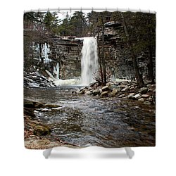 Awosting Falls In January #2 Shower Curtain by Jeff Severson