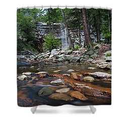 Awosting Falls In July Iv Shower Curtain by Jeff Severson
