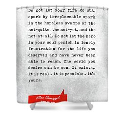 Ayn Rand Quotes - Atlas Shrugged Quotes - Literary Quotes - Book Lover Gifts - Typewriter Quotes Shower Curtain