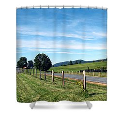 Ayrhill Farm Panoramic - The Berkshires Shower Curtain