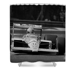 Ayrton Senna. 1988 Italian Grand Prix Shower Curtain