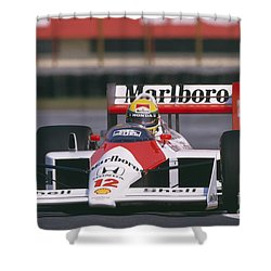 Ayrton Senna. 1988 Mexican Grand Prix Shower Curtain