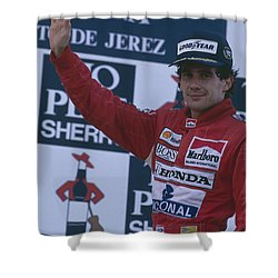 Ayrton Senna. 1989 Spanish Grand Prix Winner Shower Curtain