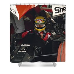 Ayrton Senna. 1990 Italian Grand Prix Shower Curtain