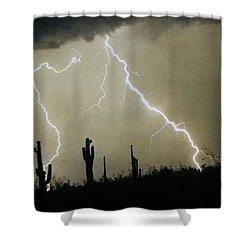 Az Desert Storm Shower Curtain by James BO  Insogna