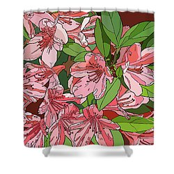 Azalea Bunch Shower Curtain