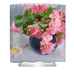 Shower Curtain featuring the photograph Azalea Time by Louise Kumpf