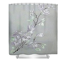 Azaleas Blooming Shower Curtain