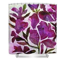 Azaleas Shower Curtain by Julie Maas