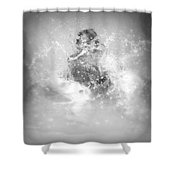Azlinn Splash Shower Curtain by Amanda Eberly-Kudamik