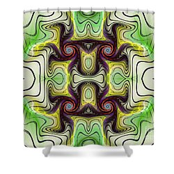 Aztec Art Design Shower Curtain