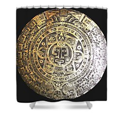 Aztec Calendar Shower Curtain