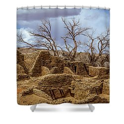 Aztec Ruins, New Mexico Shower Curtain
