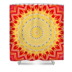 Aztec Sunburst Shower Curtain