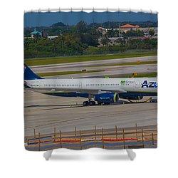Azul Barzillian Airline Shower Curtain