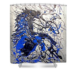 Shower Curtain featuring the painting Azul Diablo by J R Seymour